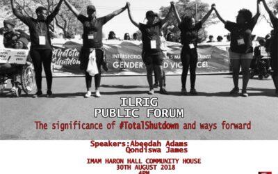 Public Forum: #TotalShutdown