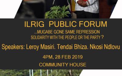 Public Forum: Zimbabwe Crisis