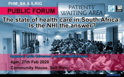 Public Forum: The State of Health Care in South Africa