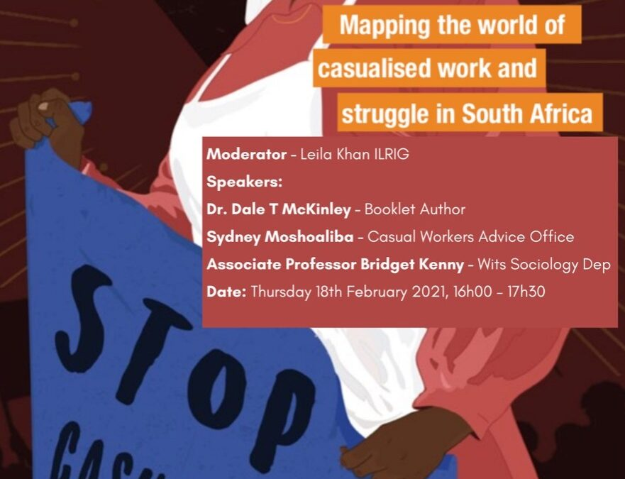 Booklet Launch: Mapping the World of Casualised Work and Struggle in South Africa