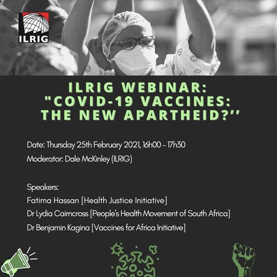 Webinar: COVID-19 Vaccines – The new apartheid?