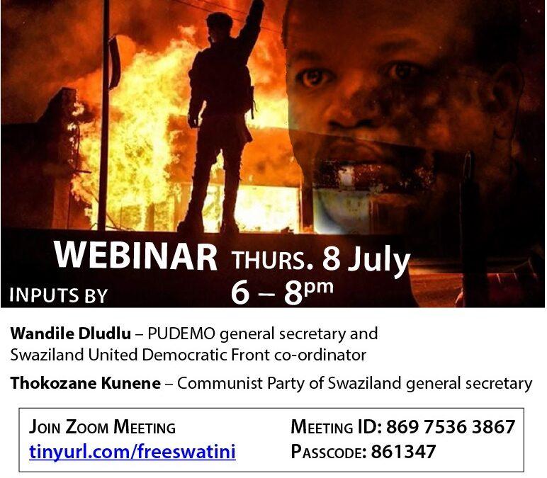 Webinar: The Uprising in Eswatini and International Solidarity