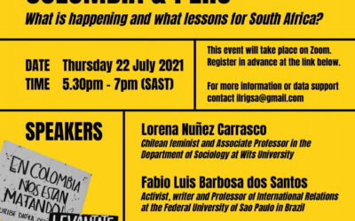 Webinar: Left Politics and People's Struggles in Chile, Colombia and Peru